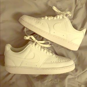 Nike white AirForce ones